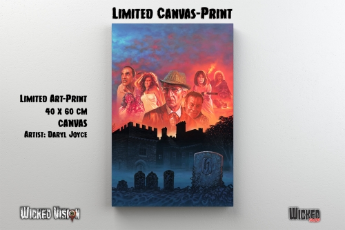 Hammer House of Horror - Limited Canvas-Print (40x 60 cm) [Leinwanddruck inkl. Keilrahmen]