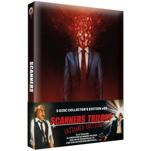 Scanners Trilogy - Ultimate Edition (3-Disc-Set Collector's Series Nr. 20) [2 Blu-rays & 1 CD]