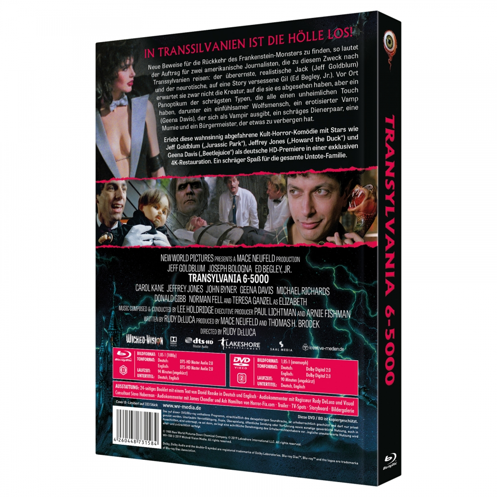 Transylvania 6-5000 (2-Disc Collector's Edition No. 28) [Limited Edition Mediabook Cover B, 333 units]