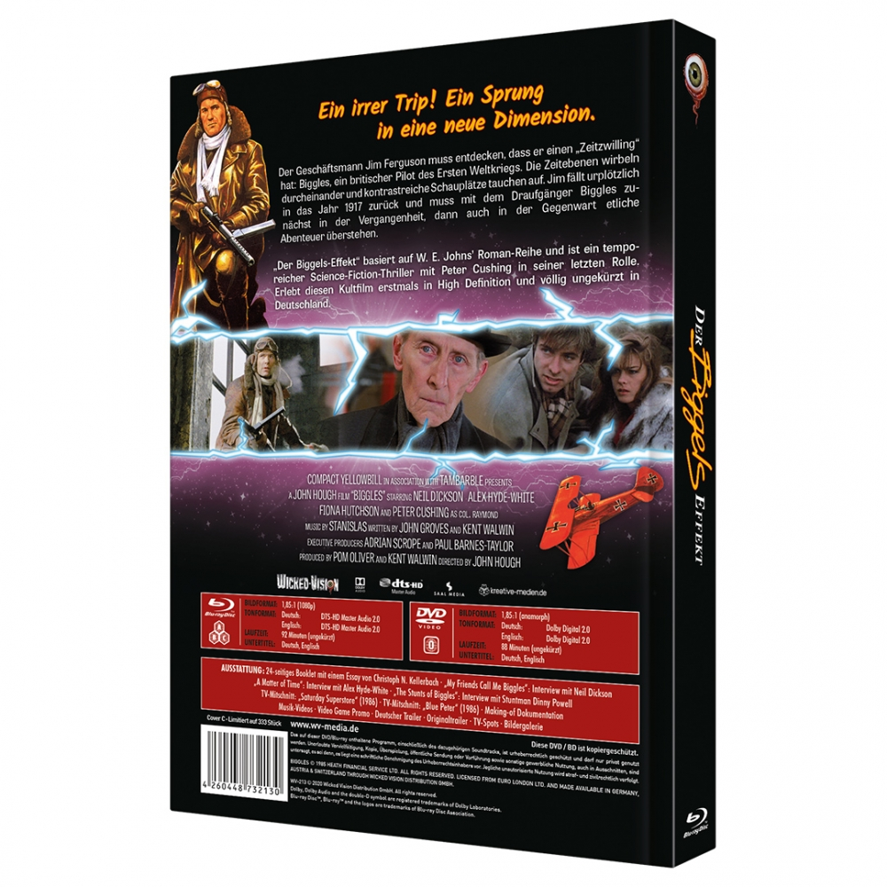 Biggles: Adventure in Time (2-Disc Limited Collector's Edition No. 39) [Mediabook, Cover A, Limited to 333 units]
