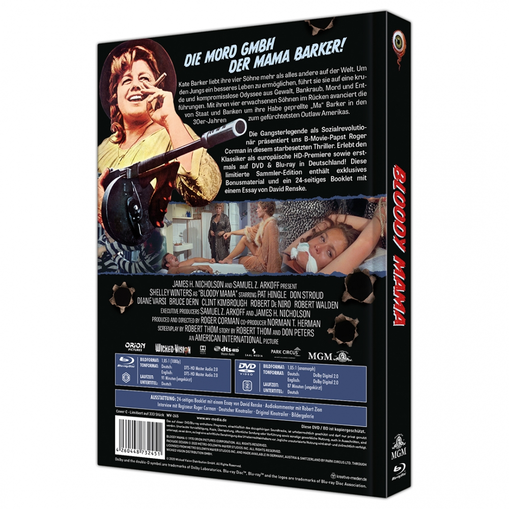 Bloody Mama (2-Disc Limited Collector's Edition No. 42) [Mediabook, Cover C, Limited to 333 units]