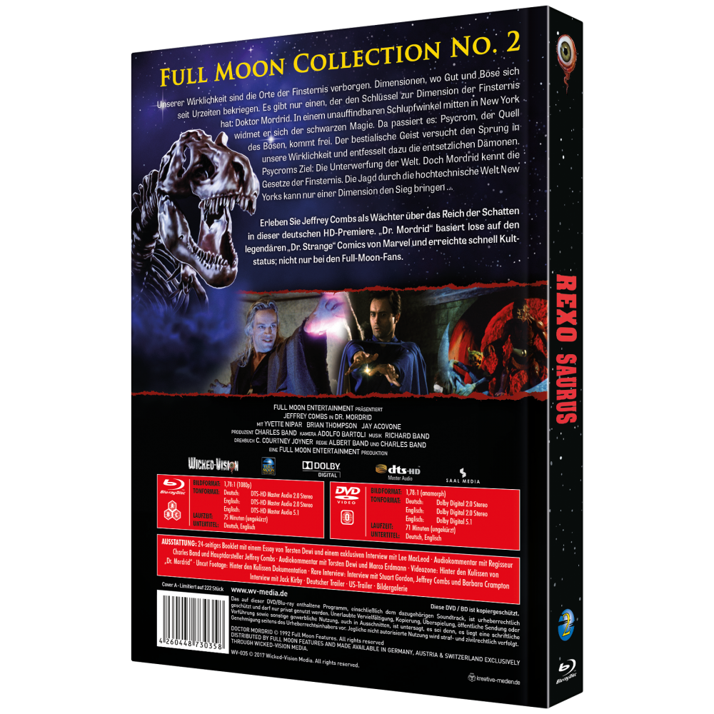 Rexosaurus / Doctor Mordrid (Full Moon Collection Nr. 2, 2-Disc Mediabook) [Cover A]