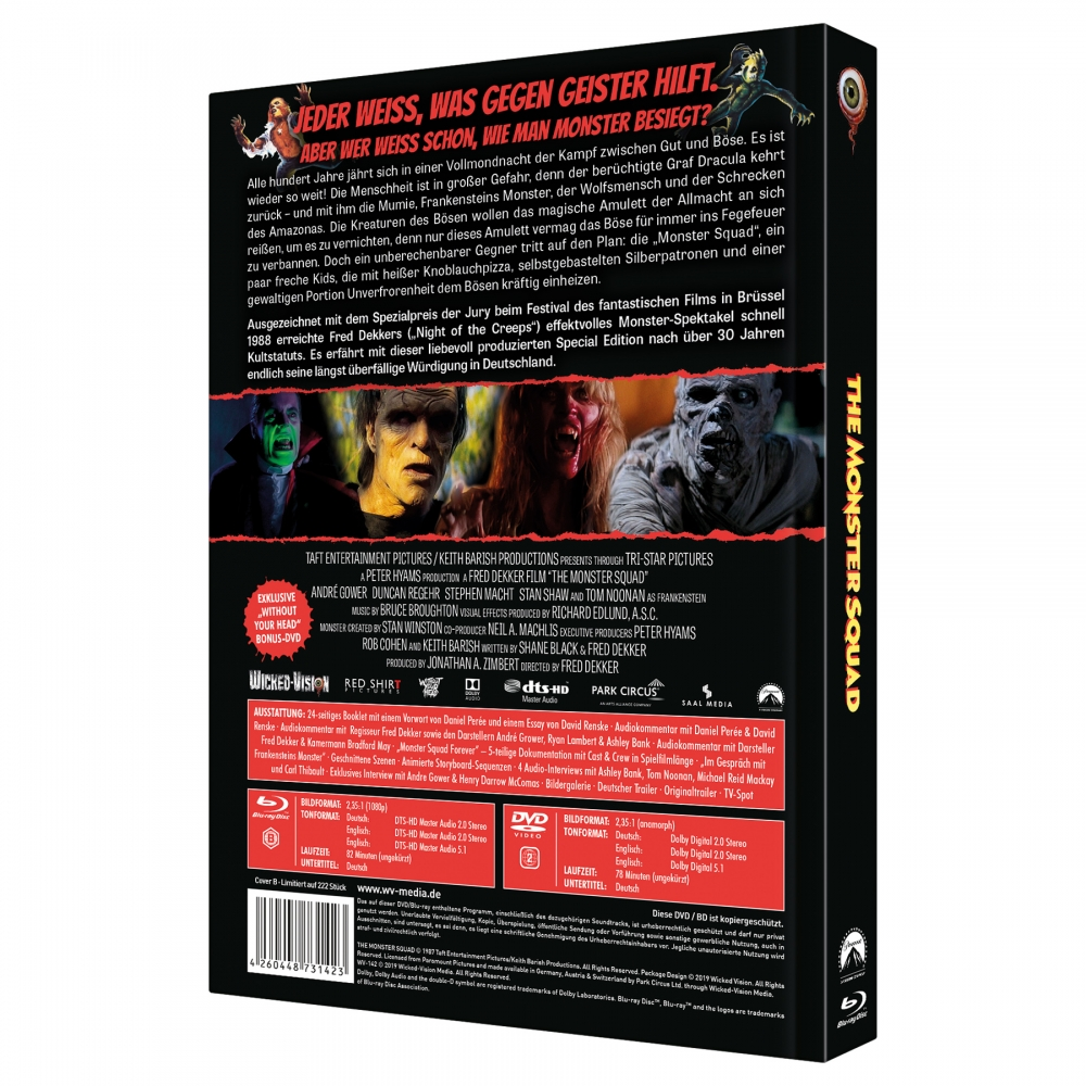 Monster Squad (3-Disc Limited Collector's Edition No. 30) [Cover B, Limited to 222 units)