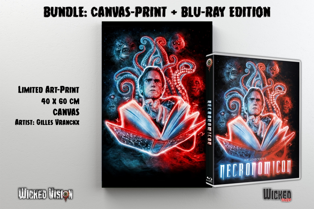 BUNDLE: H.P. Lovecraft's Necronomicon (Blu-ray + Canvas-Print)