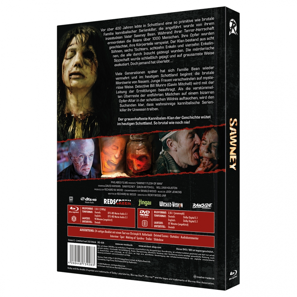 Sawney: Flesh of Man (Uncut Rawside Edition No. 9) [Mediabook, Cover C, Limited to 222 units]